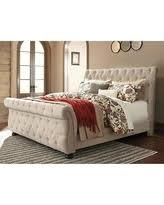 Upholstered Sleigh Bed King Don U0027t Miss This Deal Willenburg Linen King Upholstered Sleigh Bed