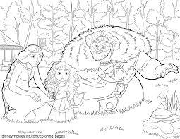 disney pixar u0027s brave coloring page sheet merida with sword