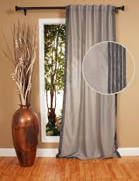 Burlap Curtains Amazon Bellacor Item 1164700 Image Fusion Flocked Taffeta 96 Inch