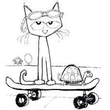 20 free printable pete cat coloring pages cat