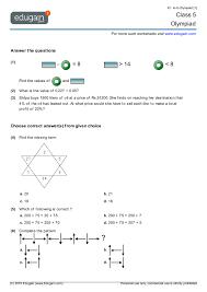 grade 5 olympiad printable worksheets online practice online