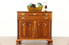 cherry vintage sideboard server or console cabinet tv console