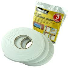 Exterior Door Insulation Strip by 3 Rolls Draught Excluder Foam Waterproof Self Adhesive Backed