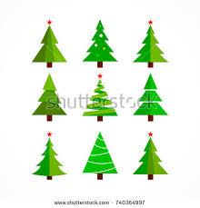 christmas tree vector icon set christmas stock vector 721034539