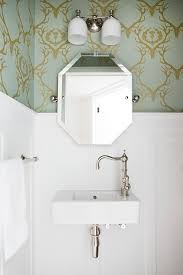 blue powder room wallpaper design ideas