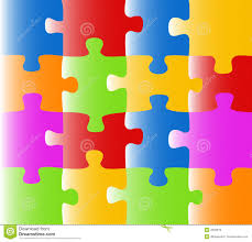 colored puzzle vector royalty free stock images image 2602819