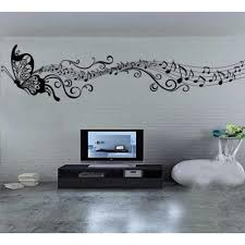 butterfly music note wall sticker easy peel and stick wall butterfly music note