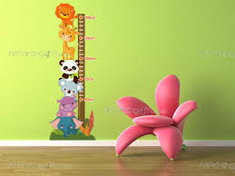Jungle Wall Decals Jungle Animals Height Measurement Wall Decals For Kids