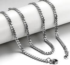 titanium curb chain necklace images 2pcs lot 23 62 quot fashion jewelry 5mm titanium steel mens beveled jpg