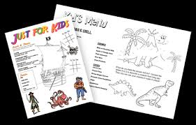 kids u0027 menu kid menu designs kid menu templates musthavemenus