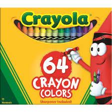 crayola crayons box of 64 officeworks