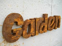 Metal Letters Home Decor 3 D Metal Garden Trade Sign