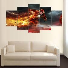 online shop 5 piece canvas art flash movie barry allen decorations