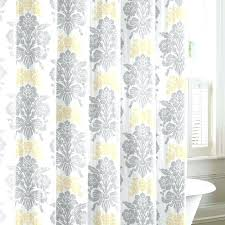 Grey And Yellow Shower Curtains Yellow Floral Shower Curtain Mariodebian