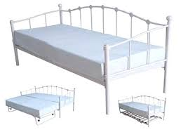 white iron daybed with pop up trundle tag white metal trundle