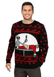 christmas sweaters men s santa probe christmas sweater