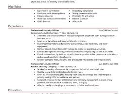 security guard resume example resume examples and free
