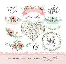 wedding flowers clipart watercolor flower clipart wedding floral clip pastel