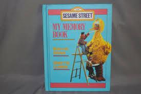 memory books yearbooks sesame my memory book 1983 vintage yearbook blank