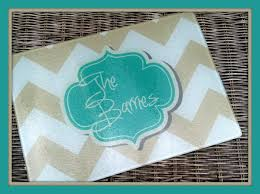 personalized glass cutting board custom monogrammed gifts for