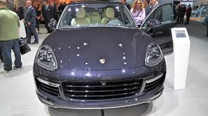 light purple porsche 2015 porsche cayenne turbo s facelift surprise unveiling in