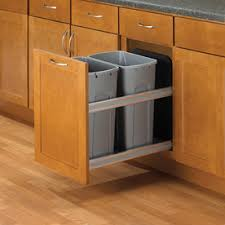 Kitchen Cabinet Garbage Can | shop pull out trash cans at lowes com