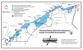 Map Of The Upper Peninsula Michigan by Pictured Rocks Maps Npmaps Com Just Free Maps Period