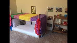 Floor Beds For Toddlers Montesori Baby Toddler Bedroom Diy Canopy Floor Bed Youtube