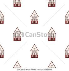 bavarian house icon in cartoon style isolated on white clipart