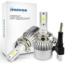 amazon led auto lights h7 led car headlight bulbs kit safego 72w led headlight kit bulbs