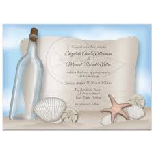 beachy wedding invitations invitations message from a bottle