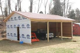 pole barn house with attached garage for tractors and cars design