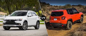 red jeep renegade 2016 2015 mitsubishi outlander sport vs 2016 jeep renegade