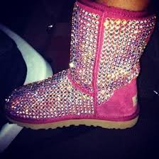 womens pink boots sale jeweled pink uggs they scream stella bling it