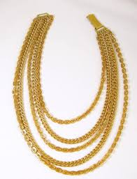 multi rope necklace images Multi strand gold tone rope link necklace at 1stdibs jpg