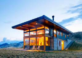 House Modern Design by Passive Solar Nahahum Cabin Overlooks Dramatic Canyon Views In The