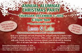 annual alumnae christmas party rsvp here regina high