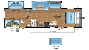 2017 jayco jay flight 32bhds model floor plan