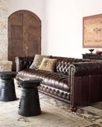 Scroll Arm Chair Design Ideas Knightsbridge Brown Bonded Leather Tufted Scroll Arm Chesterfield
