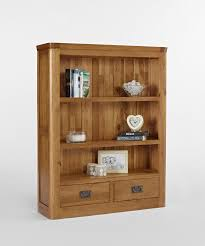 knightsbridge oak small bookcase with drawers fantastic