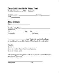 Credit Release Form Sle Authorization Release Forms 9 Free Documents In Word Pdf