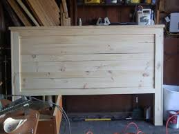 ana white my first project reclaimed wood look headboard king