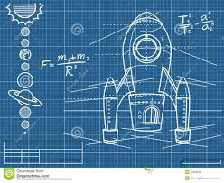 Free Blueprints Blueprint With Spaceship And Planets Royalty Free Stock Photos