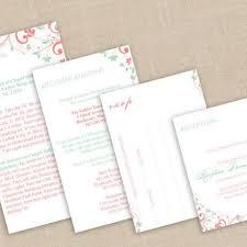 Wedding Invitations Inserts Pocket Wedding Invitations Chic Bouquet Coral Pink U0026 Mint