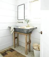 Blue Bathroom Fixtures Decorate Bathtub Galvanized Metal Tub Farmhouse Sink Decorating