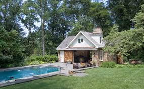 detached garage pool house plans arts