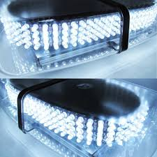 golf cart led strobe lights white light bar roof top emergency hazard warning flash strobe 240
