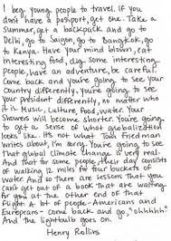 henry rollins on travel exploration Pinterest