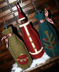 diy recycled sweater wine bottle gift bags wine bottle covers