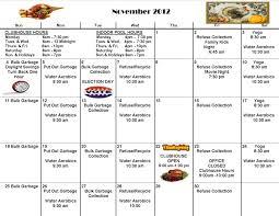 november calendar acorn ponds